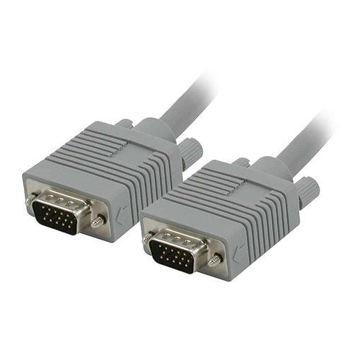 25' SXGA HD15 M/M monitor cable grey