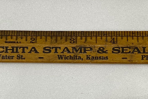 Wooden Ruler - Wichita Stamp & Seal Co