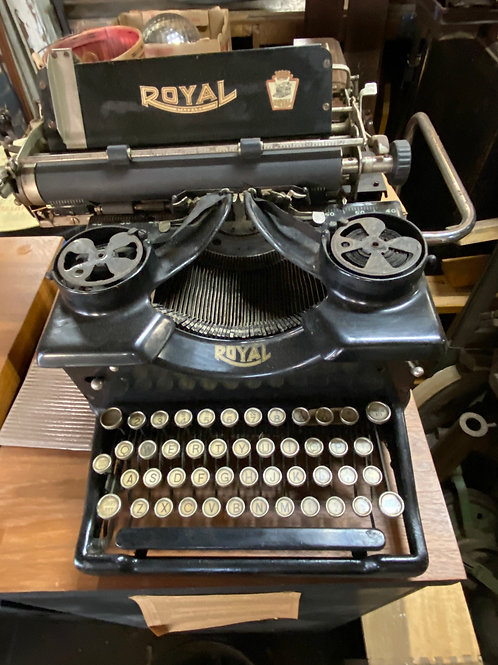 Vintage Royal Typewriter with Glass Sides