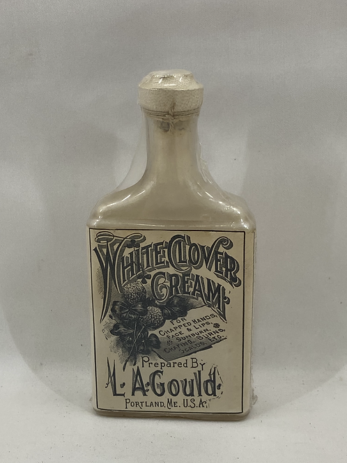 Ca 1900 White Clover Cream Bottle