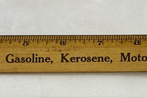 Wooden Ruler - Gasoline, Kerosene, Motor Oils and Greases
