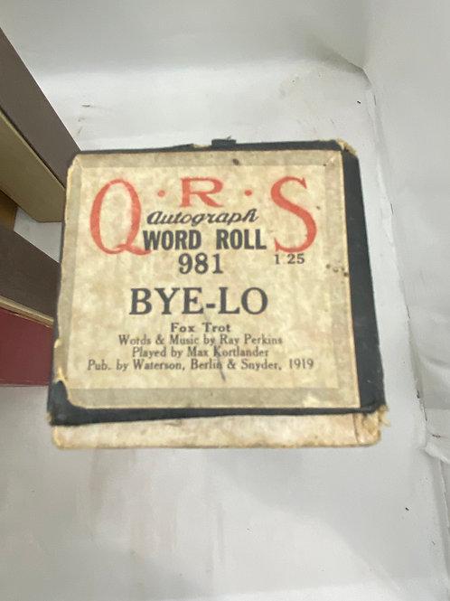 Piano Roll BYE-LO 981