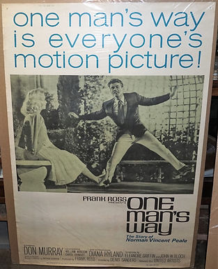 """""""One Man's Way"""" 1964 Movie Poster"""