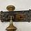 Thumbnail: Brass Door Knob and Plate Set