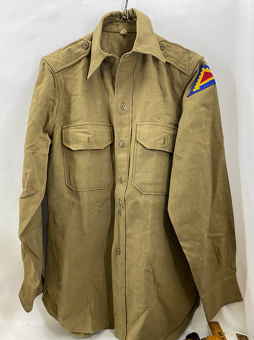 1950s Olive Drab Utilities Shirt with  7th Army Patch