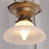 Thumbnail: 1940s Flush Mount Single Light Fixture