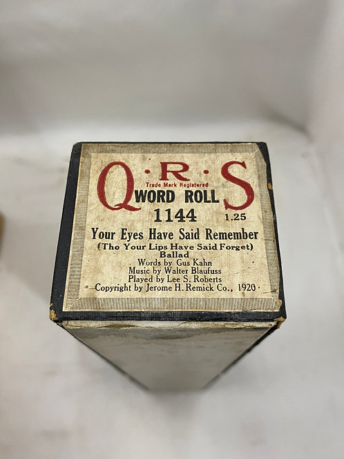 Piano Roll Your Eyes Have Said Remember 1144