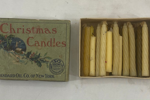 1930-1940s Christmas Candles by Standard Oil of New York