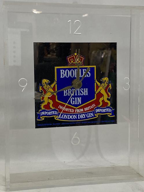 Boodles British Gin Acrylic Clock