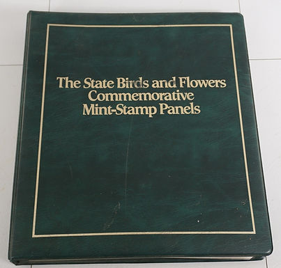 1980s State Birds And Flowers Mint-stamp Panels - Postal Com