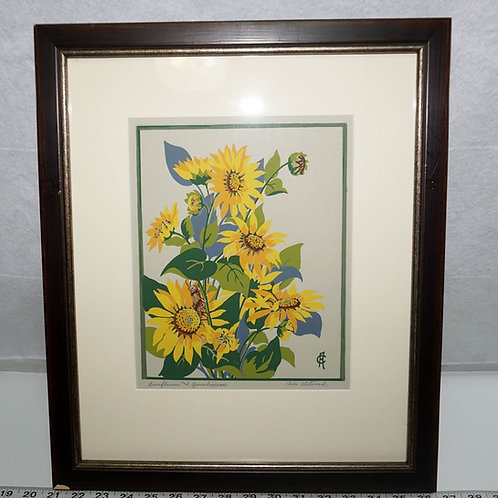 Avis Chitwood Sunflowers And Grasshoppers Print