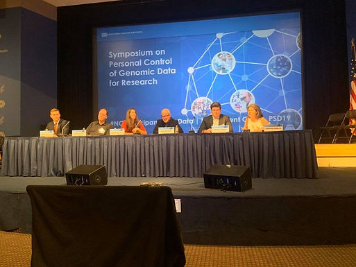 Symposium on Personal Control of Genomic Data for Research