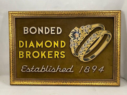 Diamond Broker Sign with Raised Font and Image
