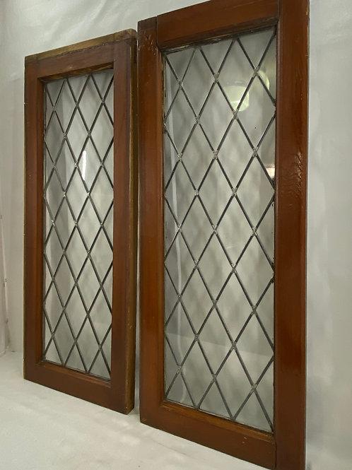Pair of Lead Glass Windows