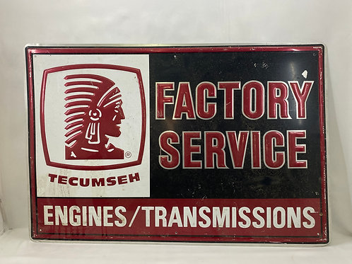 Tecumseh Factory Service Sign Engines/Transmissions