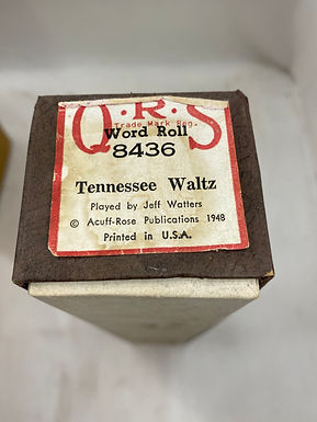 Piano Roll Tennessee Waltz 8436