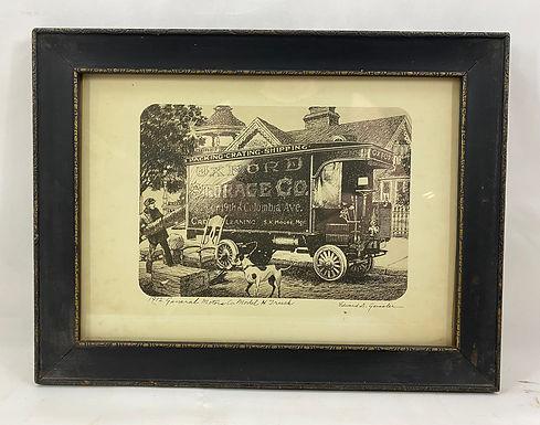1912 General Motors Co Model H Truck Framed Print by Edward D Geissler