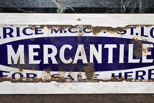 Mercantile For Sale Here - Porcelain Sign