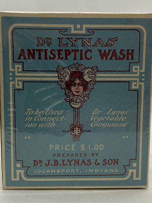 Vintage Dr Lynas' Antiseptic Wash Package