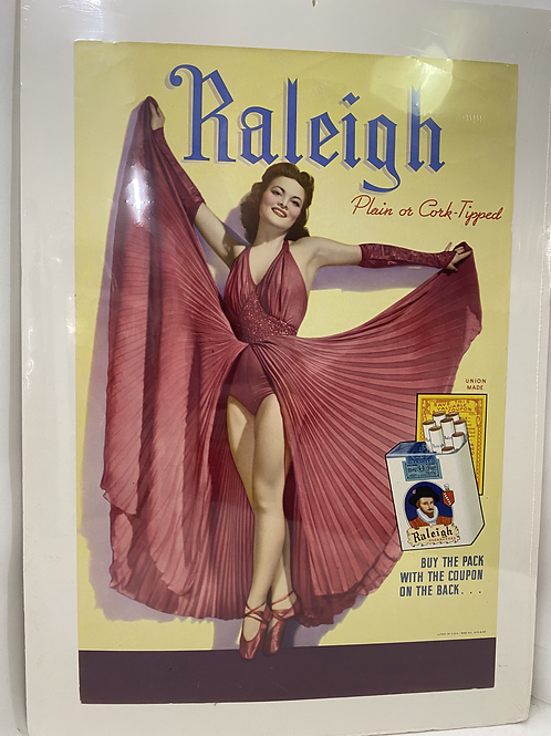 Vintage Raleigh Plain or Cork Tipped Ad