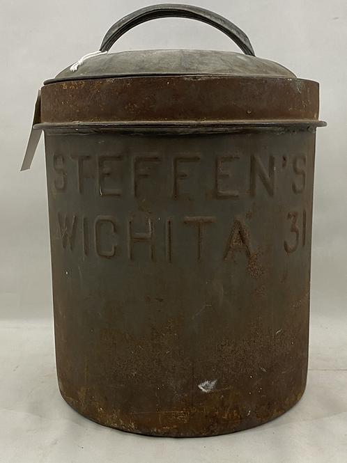 Vintage Steffens Dairy Can