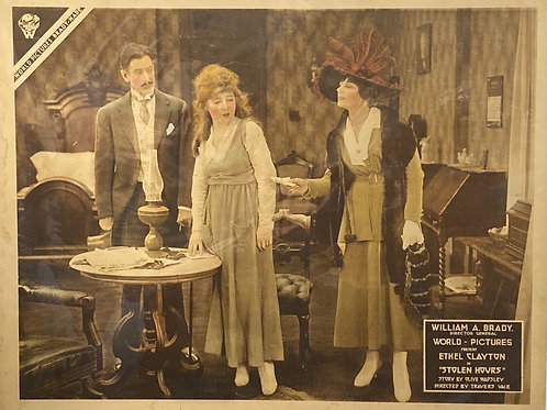 """""""Stolen Hours"""" 1918 Silent Movie Posters"""