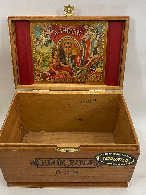 A Fuente Wooden Cigar Box