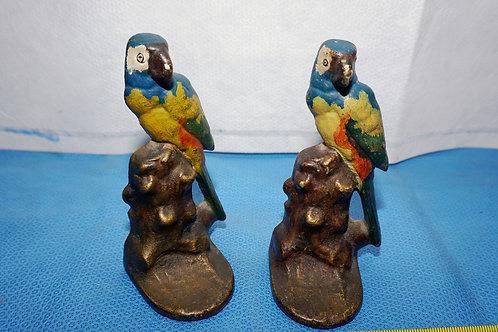 Parrot Cast Iron Bookends