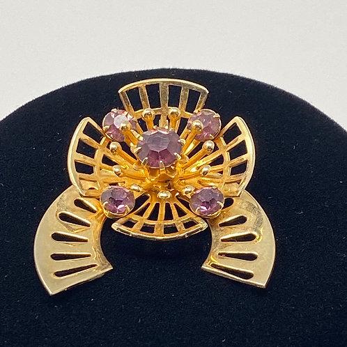 Vintage Pendant with Purple Stones