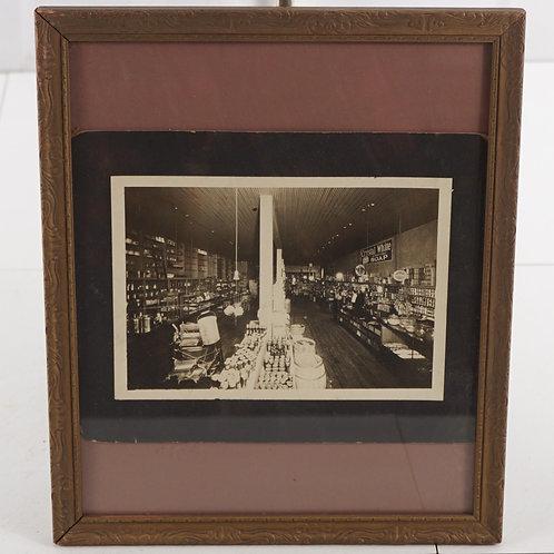 Black and White Photo of Farmer's Union Store - Wilson Ks