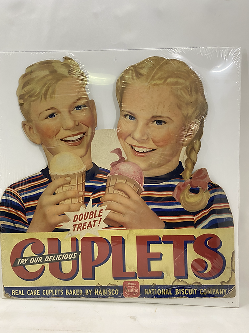 Vintage 1950s Cuplets by Nabisco Cardboard Cutout Ad