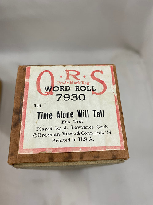 Piano Roll Time Alone will Tell 7930