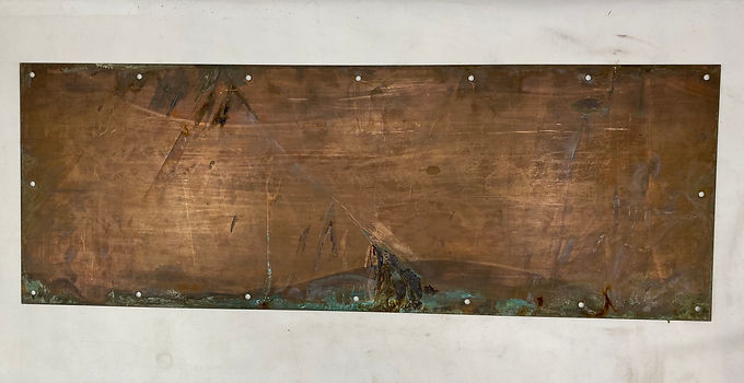 Brass Plated Copper Kick Plate