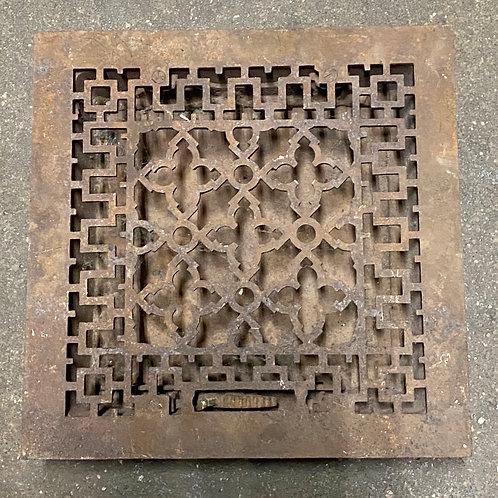 1900s Cast Iron Ornate Grate - Vent