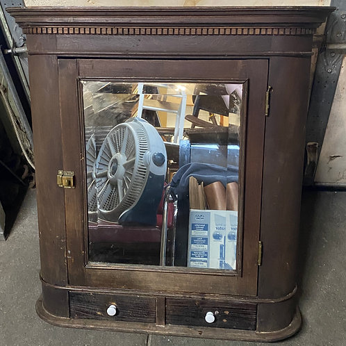 Vintage Medicine Cabinet with Mirror and Two Drawers