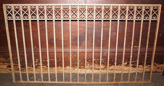 1900s Wrought Iron Bank Teller Window