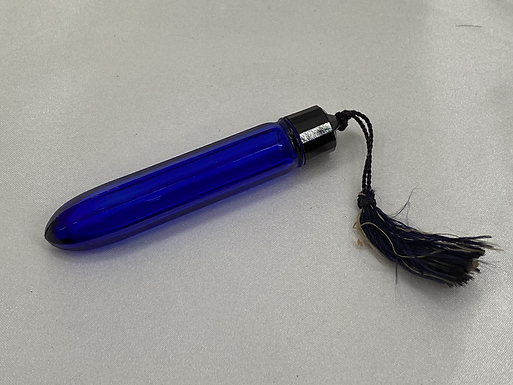 Blue Glass Vial with Tassle