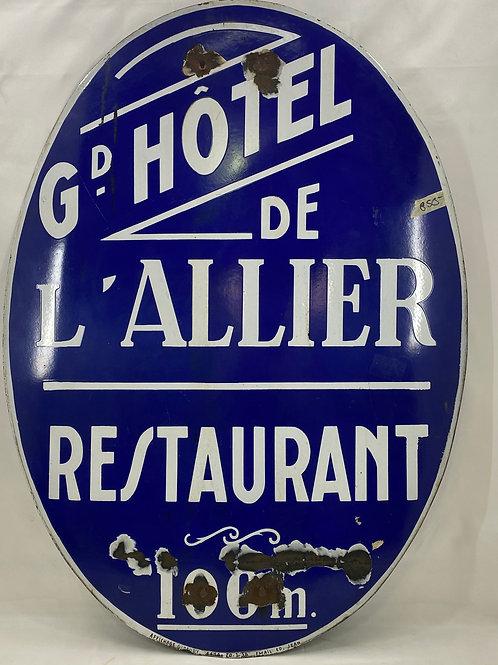 G-D Hotel De L'Allier Restaurant Sign