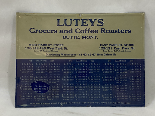 1912-1914 Calendar Lutey's Grocers and Coffee Roasters