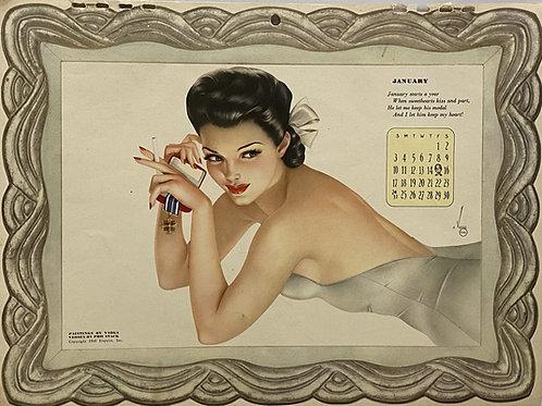 1942 Complete Esquire Girl Calendar, Alberto Vargas