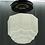 Thumbnail: Art Deco Flush Mount Single Light Fixture Ca 1940s