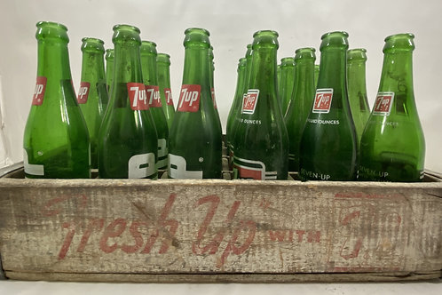 Fresh Up with 7up Crate and 22 Bottles