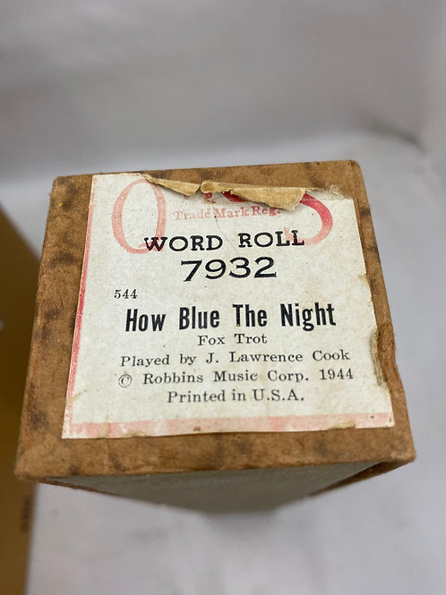 Piano Roll How Blue the Night 7932