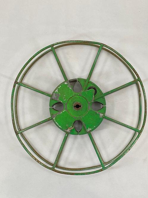 """Vintage Film Reel Green Paint 11"""" Diameter"""