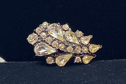 Rhinestone Pin with Dark Setting