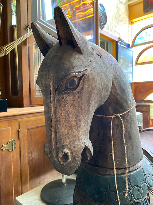 Decorative Hand Carved Wooden Horse
