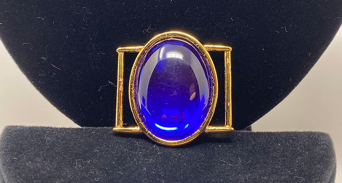 Blue Lucite Scarf Clip