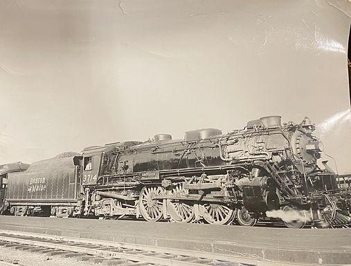 1934 Picture of Boston & Main 3714 Train Boston, MA