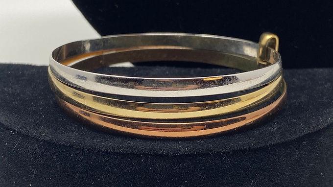 3-Tone Bangle Bracelet