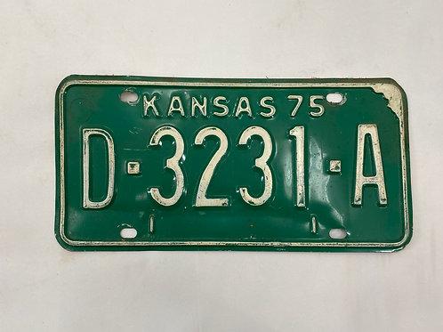 License Tag Kansas '75
